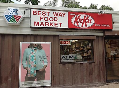 Condom campaign poster store