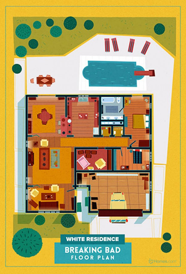 Home-Floor-Plans-of-Famous-TV-Shows-2