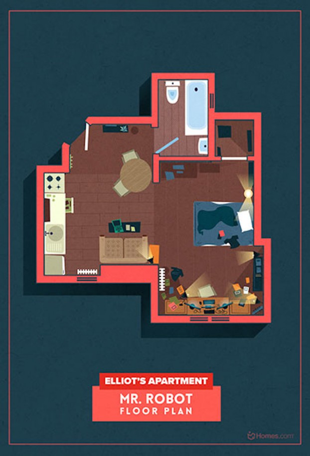 Home-Floor-Plans-of-Famous-TV-Shows-6