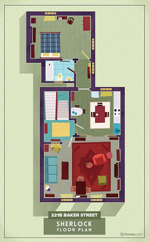 Home-Floor-Plans-of-Famous-TV-Shows-8