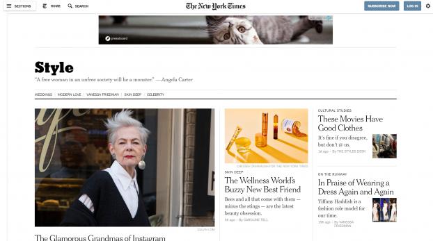 Cat on NYT